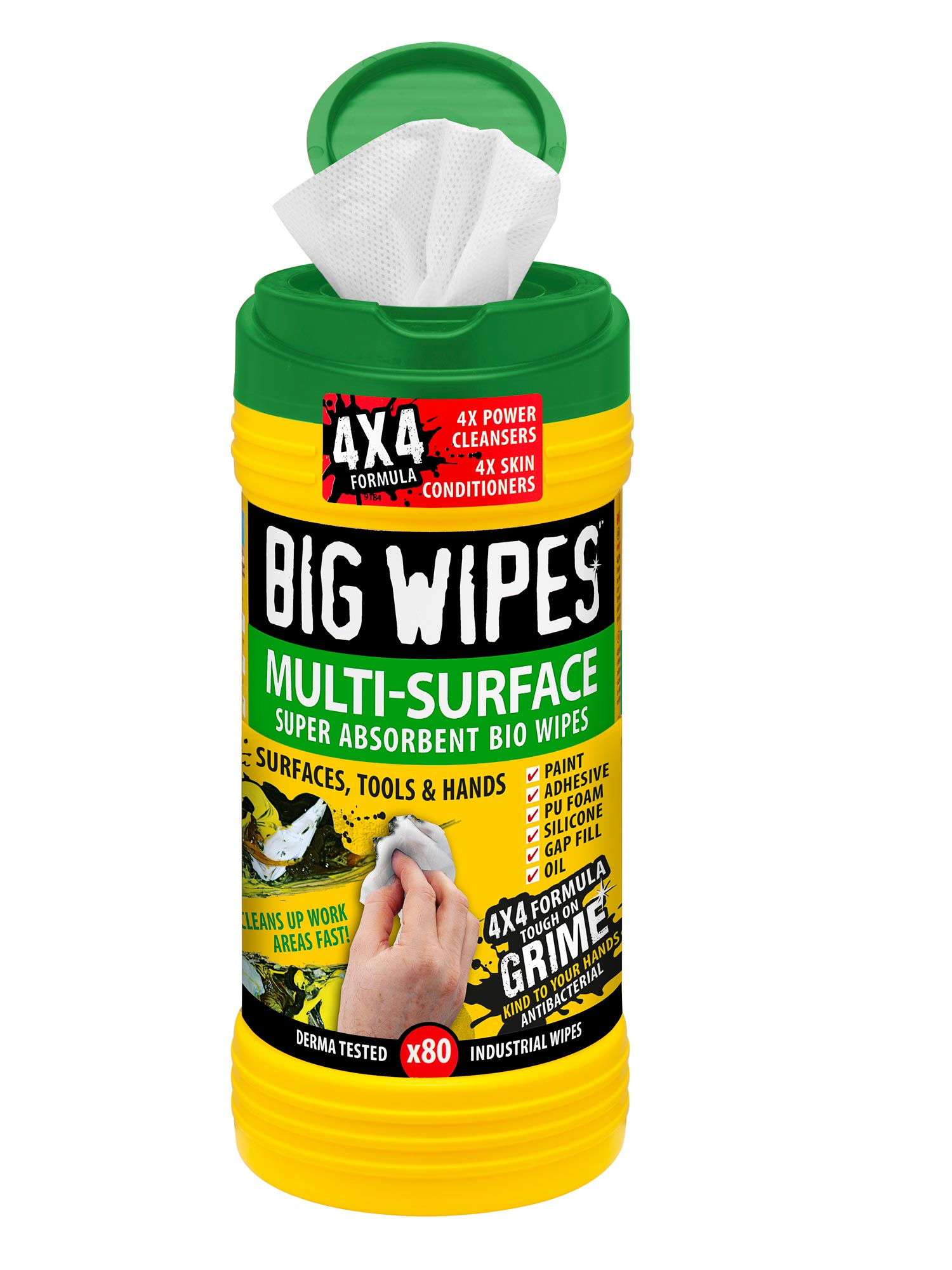 Big Wipes MultiSurface Green Biodegradeable wipes