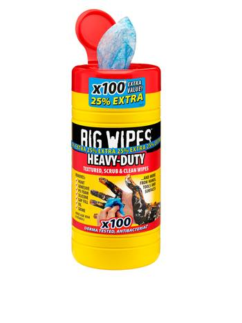 Heavy Duty Big Wipes 25 Extra Free