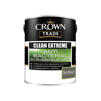 Crown Trade Clean Extreme Anti Bacterial Scrubbable Matt