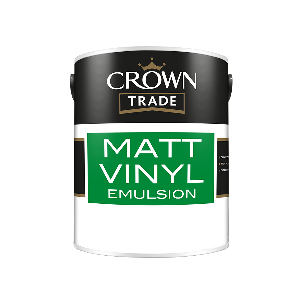 Crown Trade Matt Vinyl Emulsion | Walls and Ceilings