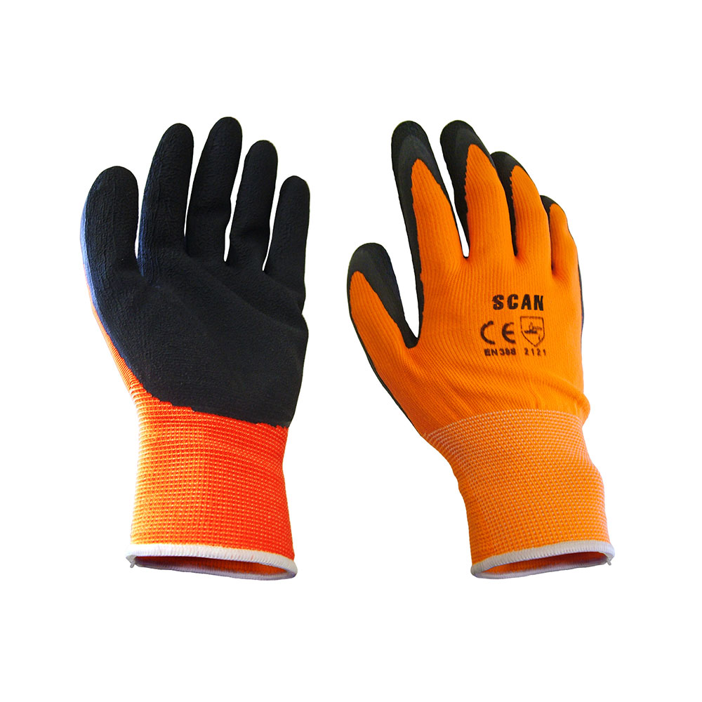 SCAN FOAM LATEX COATED GLOVE 13G