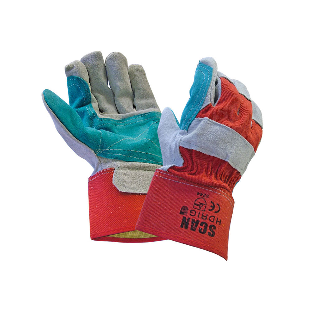 SCAN RIGGER GLOVES LEATHER HEAVYDUTY